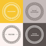 Vector set of outline design elements Royalty Free Stock Photography