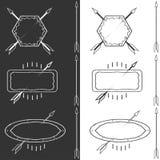 Vector set of outline emblems Stock Images