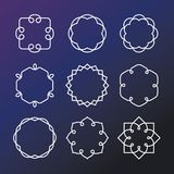 Vector set of outline emblems and badges Stock Photo