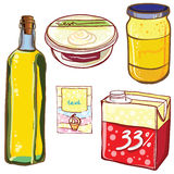 Vector set of packages bottles, jar, box, packing. Stock Photography