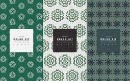 Vector set of packaging design templates, linear patterns. And frames with copy space for text for cosmetics, beauty products, organic and healthy food with stock illustration