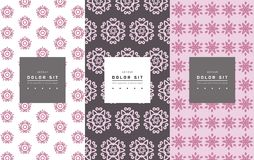 Vector set of packaging design templates, linear patterns Stock Photo