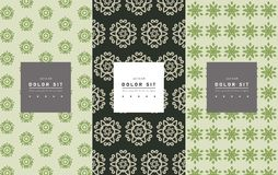 Vector set of packaging design templates, linear patterns Royalty Free Stock Images