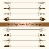 Vector Set of Page Borders Royalty Free Stock Images