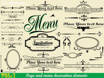 Vector Set: Page calligraphy Vol:1 Royalty Free Stock Photo