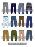 Vector set of pants for boys Stock Photos