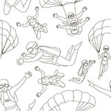 Vector set of parachuter pattern Stock Image
