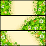 Vector Set of Patrick`s Day Banners Stock Photos
