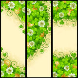 Vector Set of Patrick`s Day Banners Royalty Free Stock Image