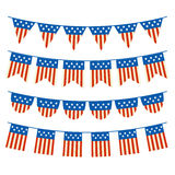 Vector Set of Patriotic Bunting Royalty Free Stock Images