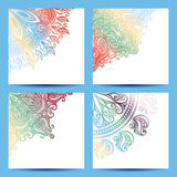 Vector Set of Patterned Banner Stock Photography