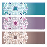 Vector Set of Patterned Banner Stock Photo