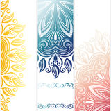 Vector Set of Patterned Banners Stock Photos