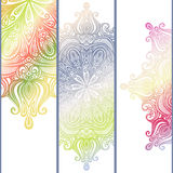 Vector Set of Patterned Banners Stock Photography