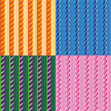 Vector set of patterns with stripes and arcs Royalty Free Stock Photography