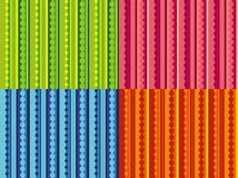 Vector set of patterns with stripes and dots Stock Images