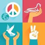 Vector set of peace signs and symbols Stock Photos