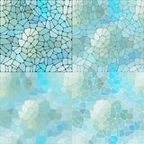 Vector set of pebbles. blue abstract background- Vektorgrafik. stock illustration