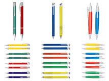 Vector set of pens. Royalty Free Stock Images