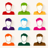 Vector set of people icons.  stock illustration