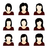 Vector set of people icons Royalty Free Stock Images