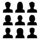 Vector set of people icons isolated on white background Royalty Free Stock Image