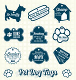 Vector Set: Pet Dog Name Tag Labels Stock Photo