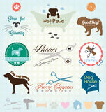 Vector Set: Pet Grooming Labels Royalty Free Stock Image