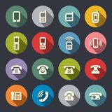 Vector set of Phone Icons Royalty Free Stock Photos