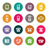 Vector set of Phone Icons Royalty Free Stock Images