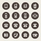 Vector set of Phone Icons Stock Photo
