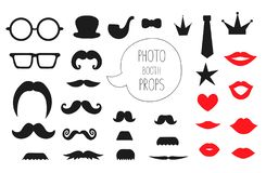 Vector set of photo booth props royalty free illustration