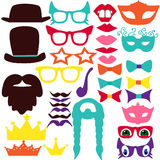 Vector set. For photo shoots masquerade Royalty Free Stock Images