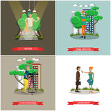 Vector set of photo and video concept posters, banners. Royalty Free Stock Image