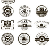 Vector set of photography logo templates. Photo Stock Image