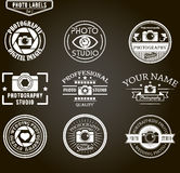 Vector set of photography logo templates. Photo Royalty Free Stock Images