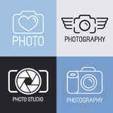 Vector set of photography logos Stock Image