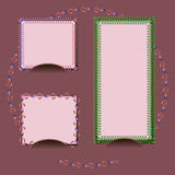 Vector set picture frame. Vector set of picture frame Royalty Free Stock Photography
