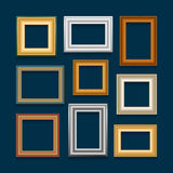 Vector set of picture frames. Royalty Free Stock Image