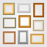 Vector set of picture frames. Stock Photos