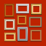 Vector set of picture frames. Stock Images