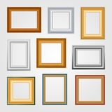 Vector set of picture frames. Vector set of picture frames on white background Stock Images
