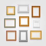 Vector set of picture frames. Royalty Free Stock Photos