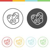 Pinto beans vector icons. Vector set of pinto beans icons in thin line style Royalty Free Stock Photography