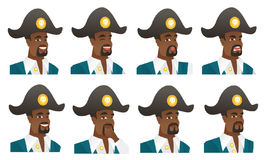 Vector set of pirate characters. Stock Photography