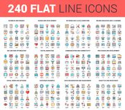 Flat Line Web Icons Royalty Free Stock Image