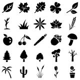 Vector set of plants icons Royalty Free Stock Photography