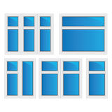Vector set of plastic windows Stock Image