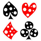 Vector set of playing card symbols. Royalty Free Stock Image