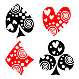 Vector set of playing card symbols. Stock Image